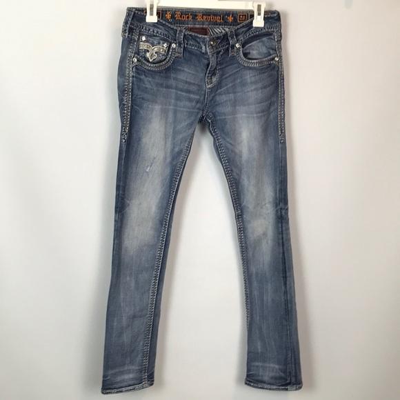 Rock Revival Denim - Rock Revival Barbila Straight Jeans Size 28
